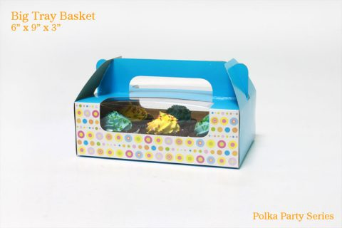 Big Tray Basket - Polka Party
