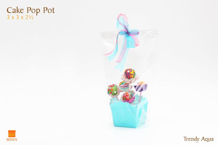 Cake Pop Pot - Aqua
