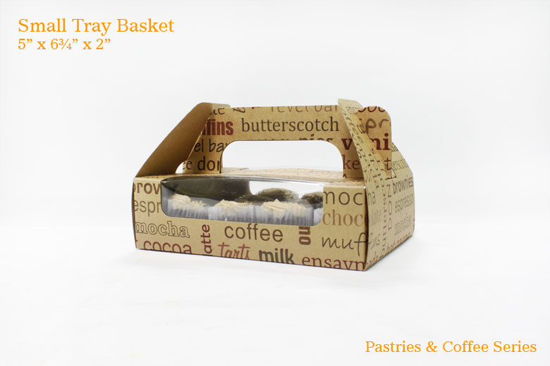 Small Tray Basket - Pastries & Coffee